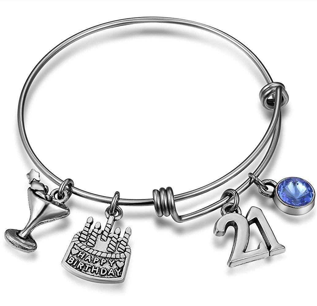 21st birthday gifts for her of unique 21st birthday charm