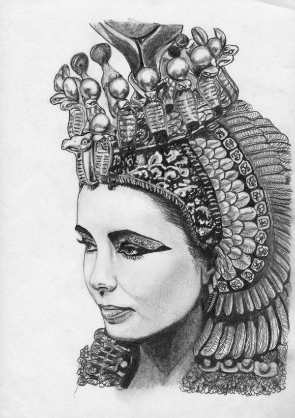 CLEOPATRA DRAWING   Cleopatra: Queen of Egypt by ...