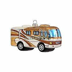 Class A Motorhome Glass RV Christmas Tree Ornament