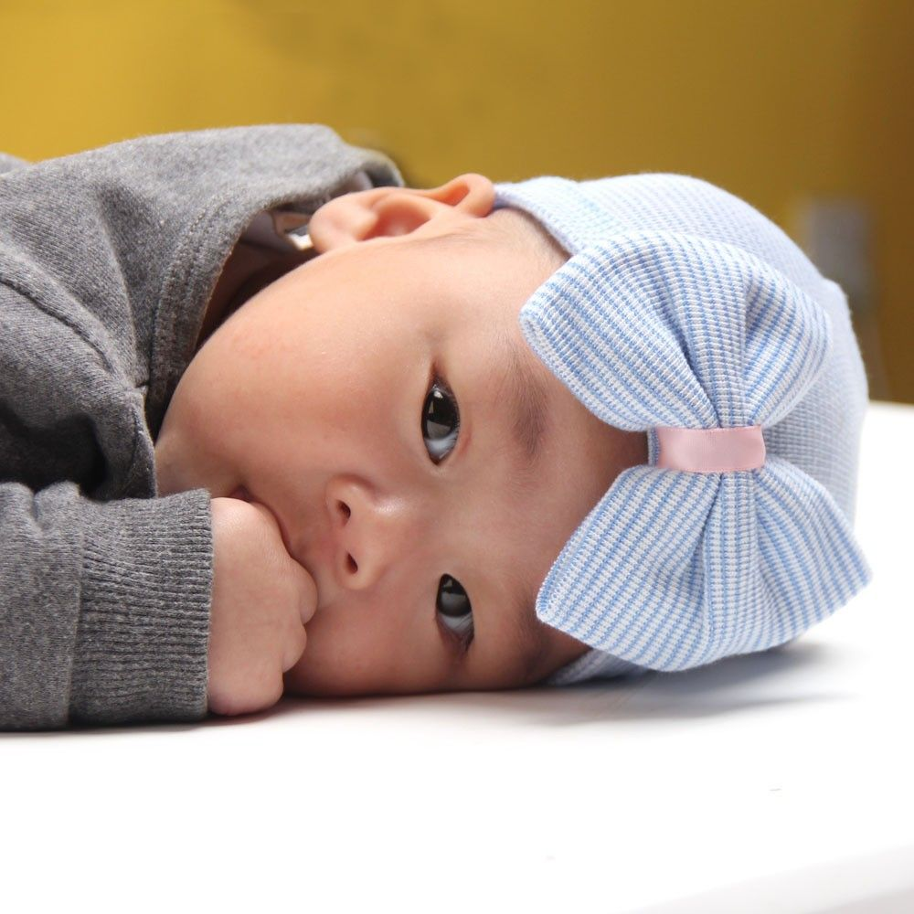 1 PC Hospital Newborn Hat Lovely Baby Girl Cotton Beanie With Bow Infant Soft Knit Striped Cap Baby Toddler Hat Accessories Cute #>=#>=#>=#>=#> Click on the pin to check out discount price, color, size, shipping, etc. Save and like it!