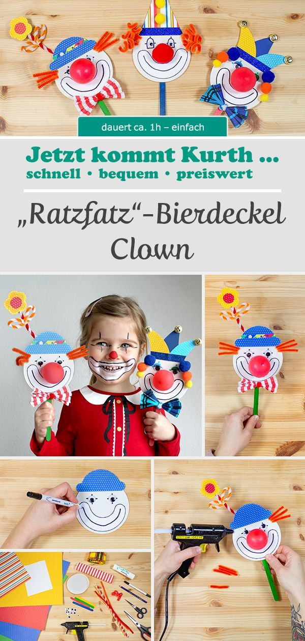 Ratzfatz - Bierdeckel Clowns