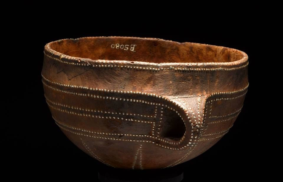 Wooden Bowls Decorated With Tin Tacks Bronze Age Found In