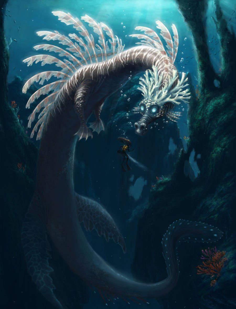 Sea dragon || CHARACTER DESIGN REFERENCES | Find more at https://www.facebook.com/CharacterDesignReferences