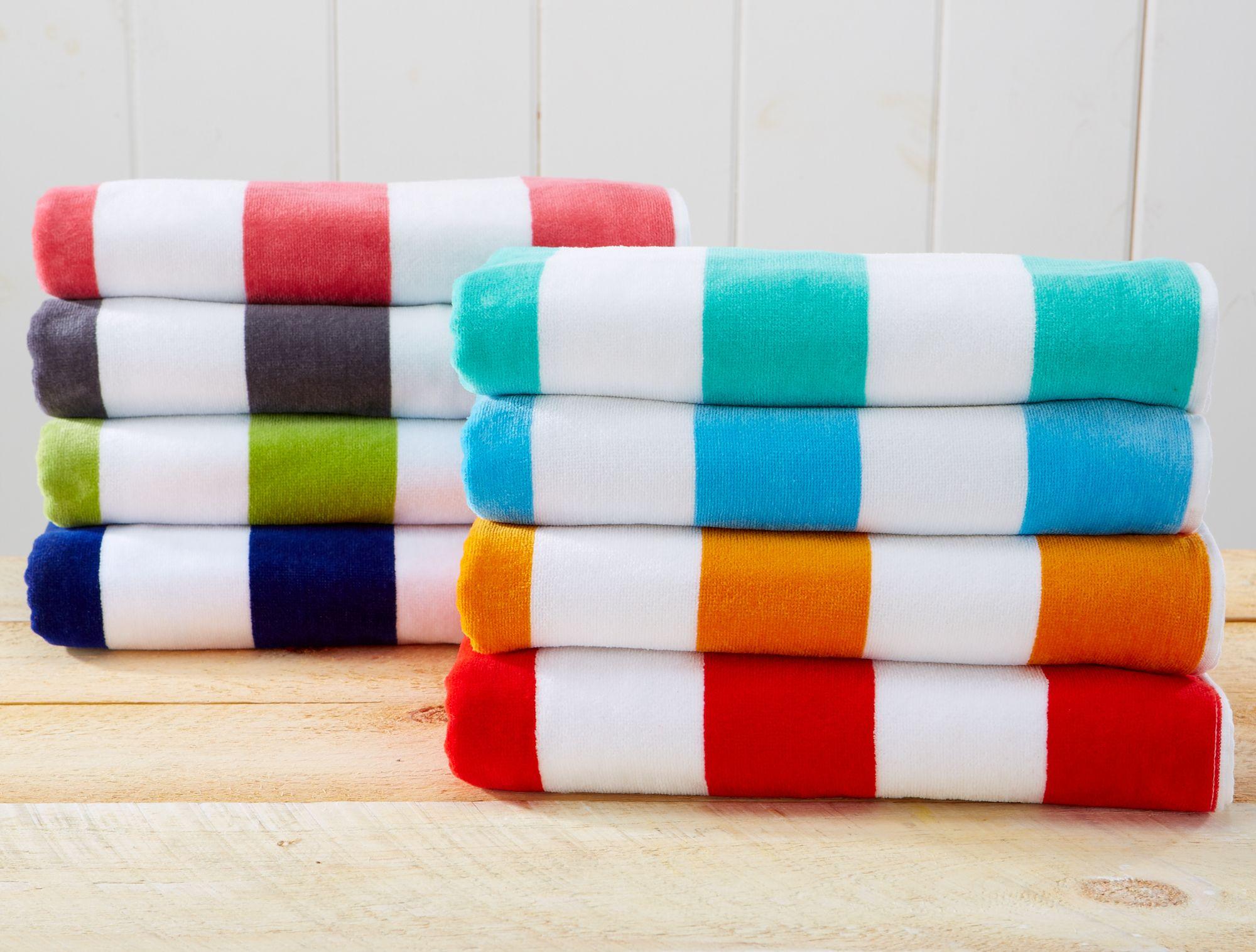 100 Cotton Cabana Stripe Velour Beach Towels Novia Collection Cabana Beach Towel Beach Towel Beach Towel Set
