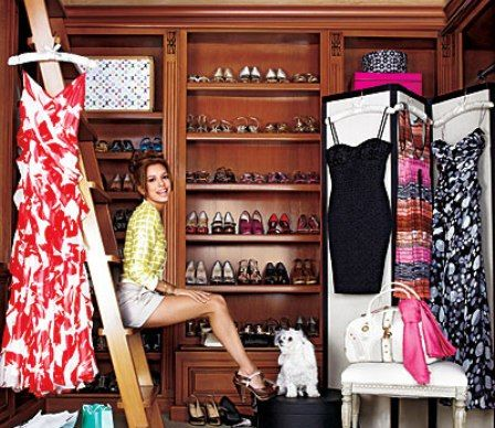 I've always wanted a luxurious closet that I could run laps in. My husband jokes that I could go a year without ever having to wear the same outfit. I think he might be right! Only a closet that big could fit all my clothes and shoes.