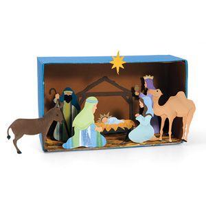 Nativity Diorama | Nativity scene crafts, Christmas diorama, Diorama kids