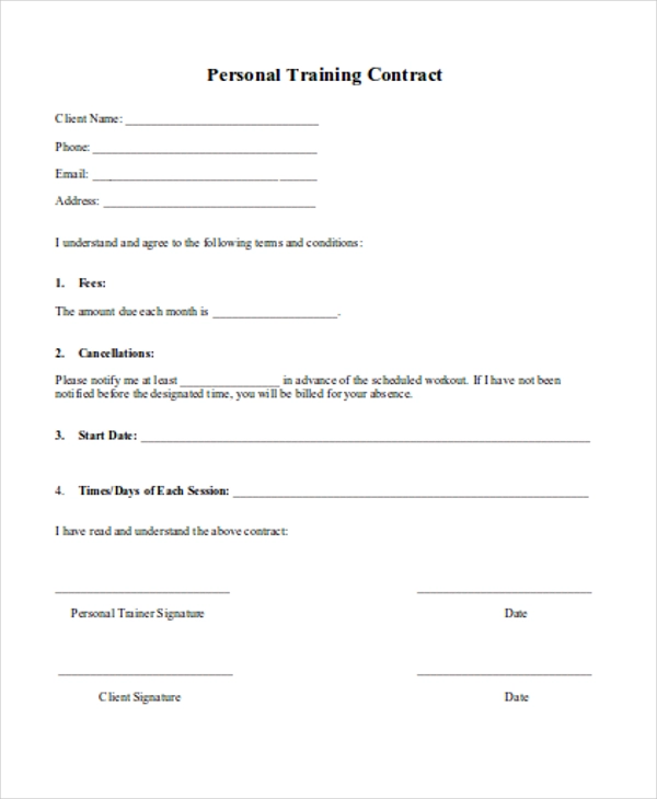 15+ Training Agreement Template (With images)   Contract ...