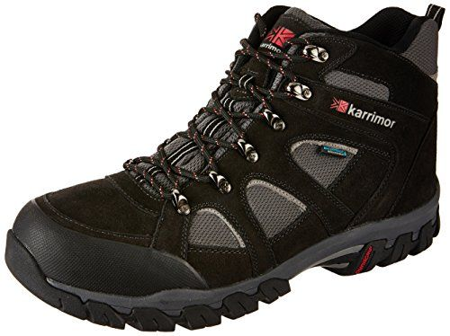 Karrimor Bodmin IV Weathertite Mens Trekking and Hiking Shoes Black  Black Sea