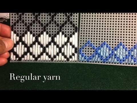 How to make plastic canvas coasters: Diamond Stitch - YouTube ...
