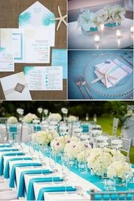 tiffany and white wedding reception centerpieces and decor i think rh pinterest com Turquoise Blue Centerpieces Mint Green Wedding Centerpieces