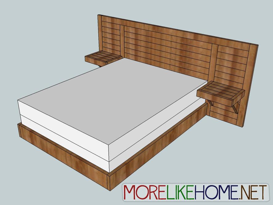 2x4 Simple Modern Bed Diy bed frame, Bed frame plans