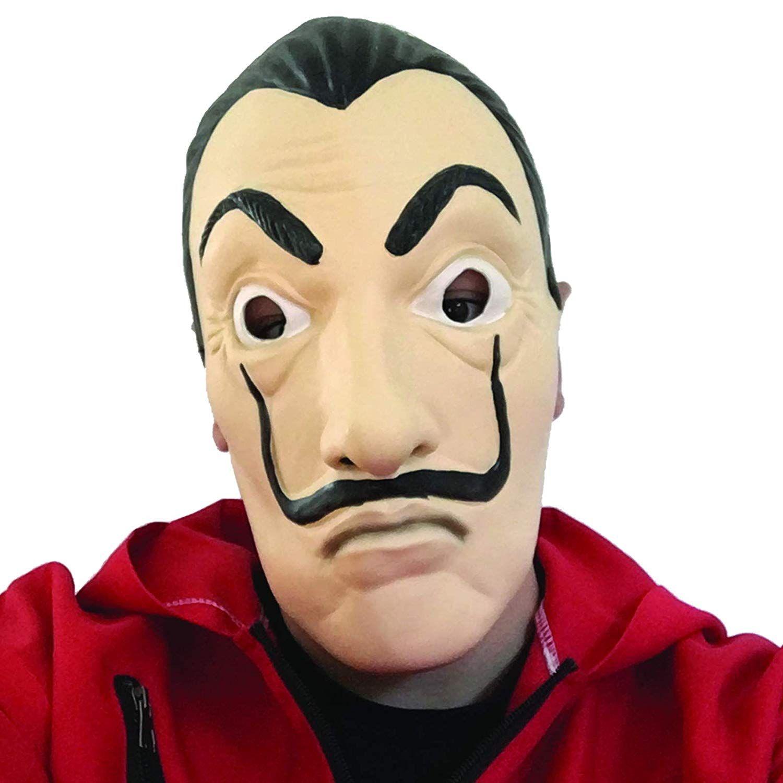 Haus Des Geldes Kostum Overall Mit Dali Maske Masken Verkleidung Cosplay
