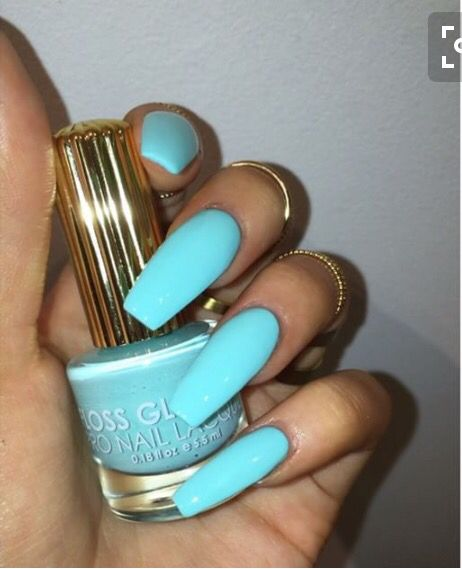 Tryyveaytyѕ Tiffany Blue Nails Stiletto Nails Blue Nails