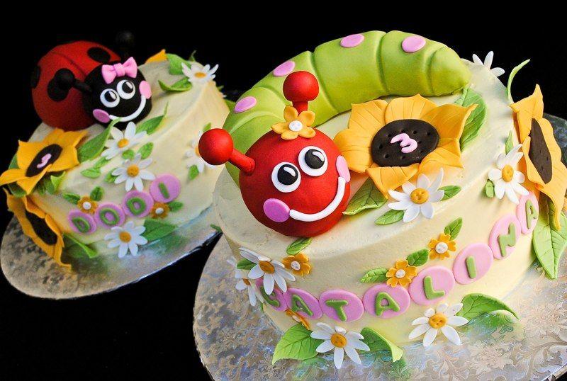 Love this garden bug cake by casadecupcake!
