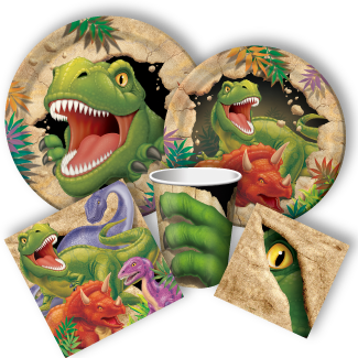 Discount Party Supplies Offers Dinosaur Blast Including Tableware Favors Decorations And More