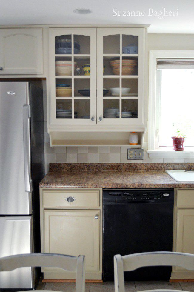 millstone and antique white kitchen cabinet makeover antique white kitchen cabinets kitchen on kitchen cabinets not white id=37369