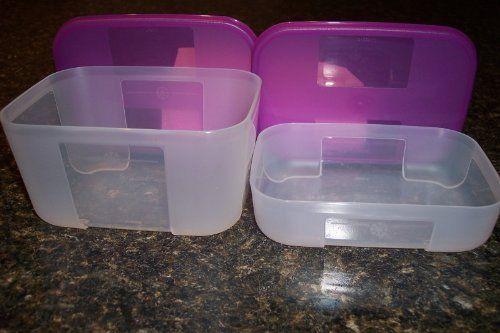 Tupperware Freezer Mates Small Set Raspberry Purple By Tupperware 14 00 Dishwasher Safef 5 3 4 Long X 4 1 4 Tupperware Modular Storage Storage Containers
