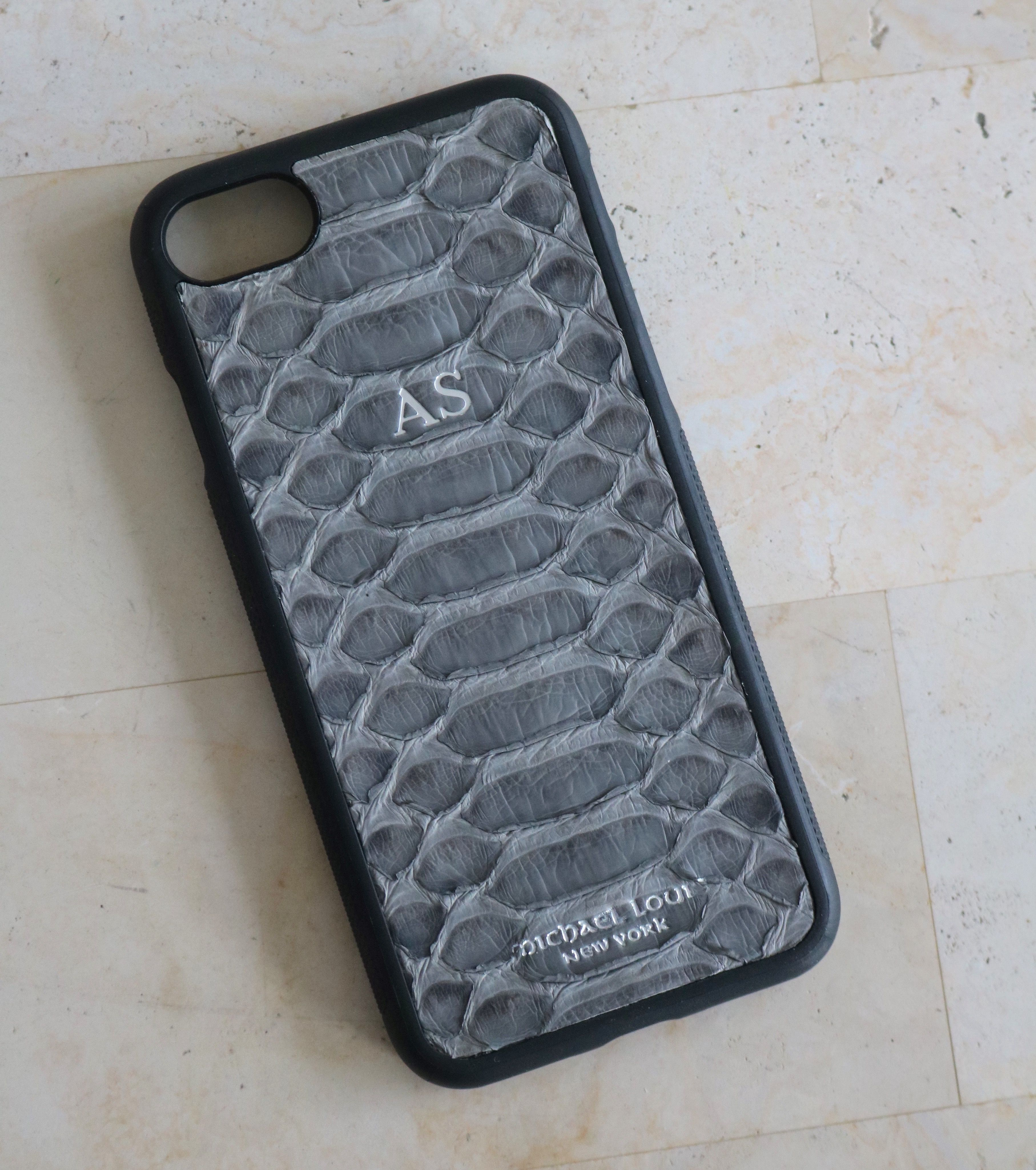 iphone 8 case grey leather