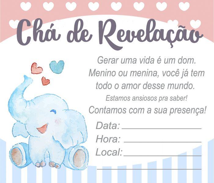30 Convites De Cha De Revelacao Prontinhos Para Editar Com