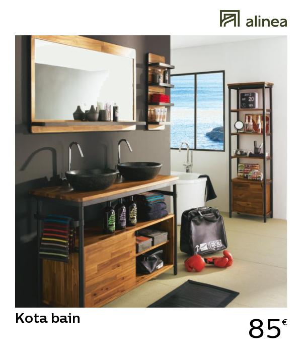 alinea : kota bain étagère murale de salle de bains meubles ...
