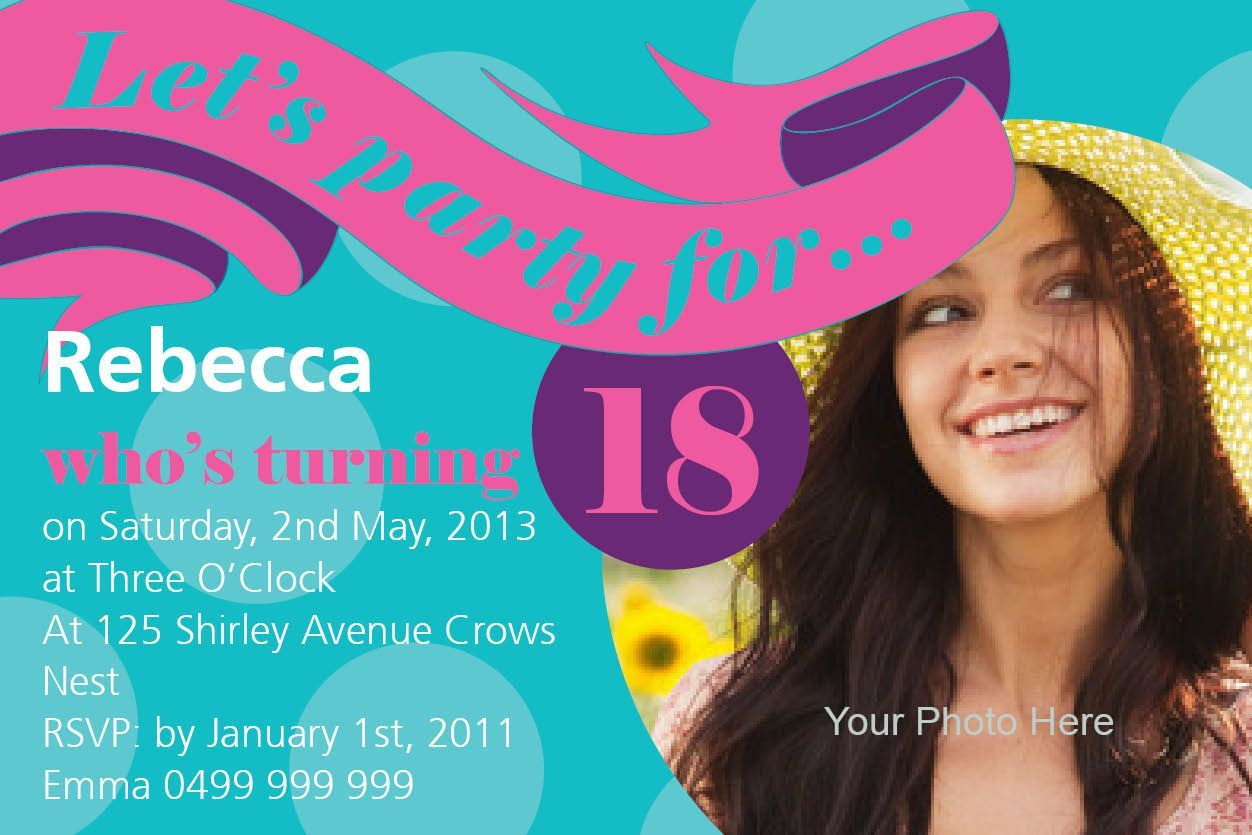 18th birthday invitation templates free download | birthday ...
