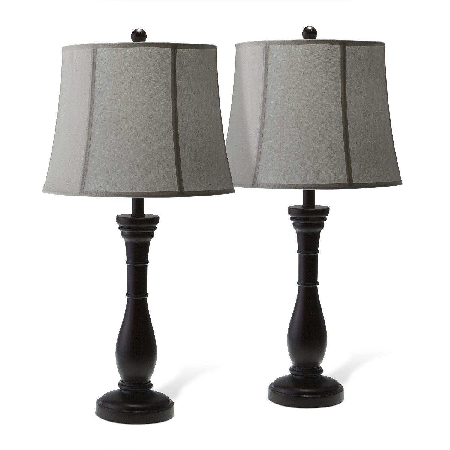 Annette 2 Pack Table Lamps Value City Furniture City Furniture Floor Table Lamps