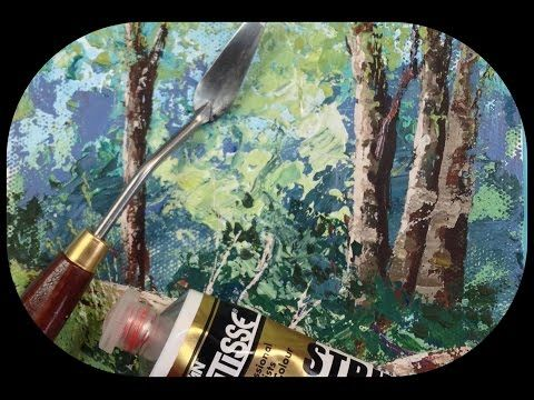 How To Paint Grass And Bushes With A Palette Knife Painting Tips Tricks Adding