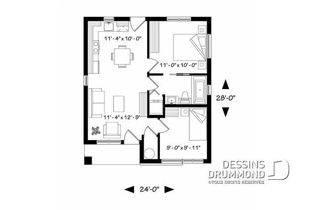 Plan de maison unifamiliale Sanaa No 1704-BH en 2018 maisons