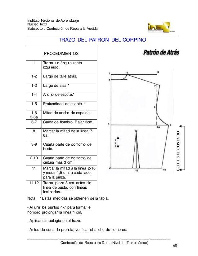 Confeccion De Ropa Para Dama A La Medida Trazo Basico 4 Pattern Sewing Projects Chart