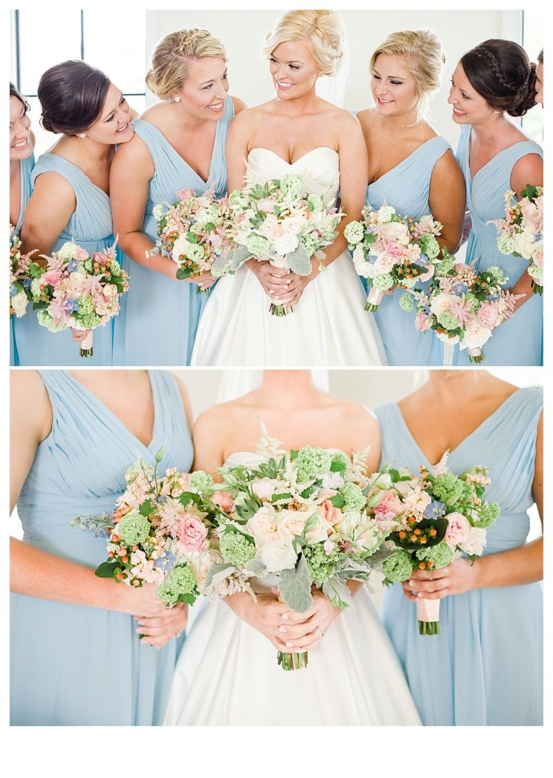 Soft pastel flowers and light blue periwinkle bridesmaids dresses soft pastel flowers and light blue periwinkle bridesmaids dresses photo by three little ombrellifo Image collections