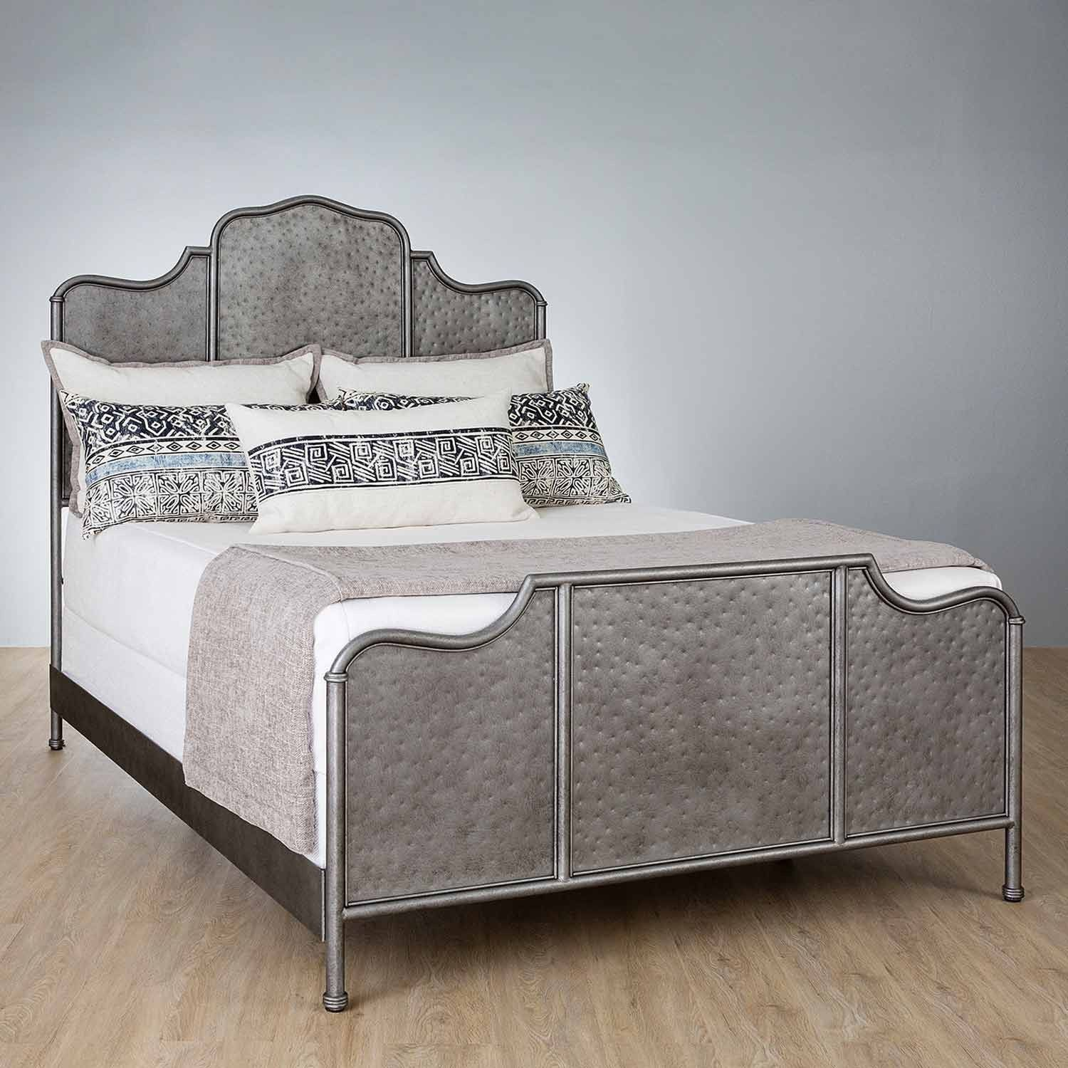 Abington Iron Bed with Metal Profile Frame by Wesley Allen