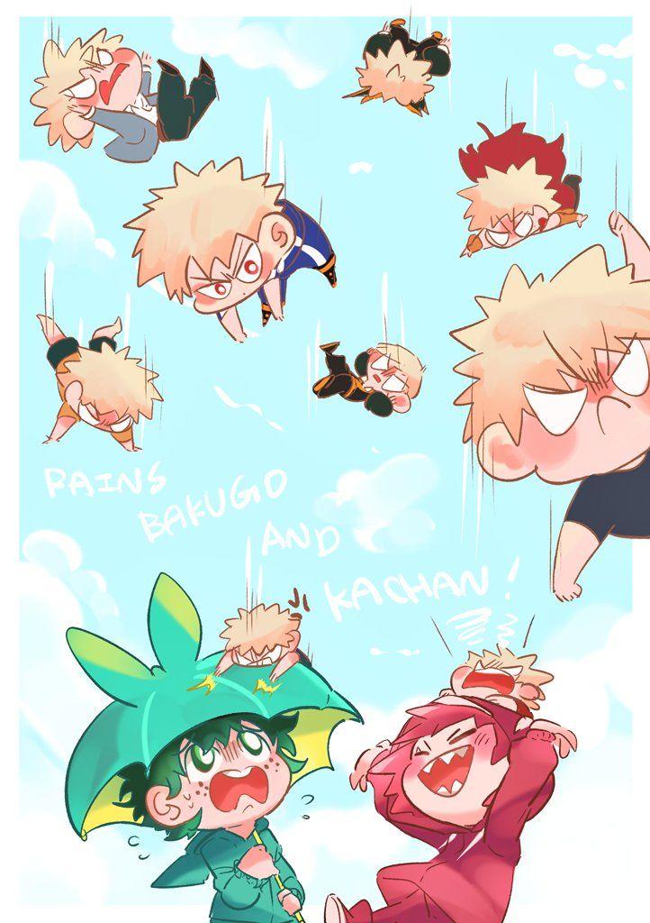 Boku No Hero Academia Katsuki Bakugou Midoriya Izuku Kirishima Eijirou My Hero My Hero Academia Shouto Chibi Wallpaper