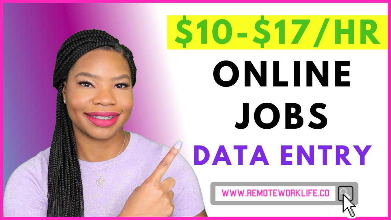 16 Legit Data Entry WorkFromHome Job Sites (NoPhone