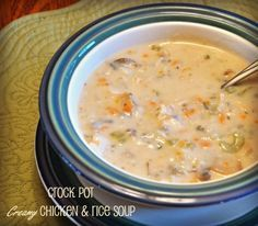 Crock Pot Creamy Chicken and Wild Rice Soup Recipe