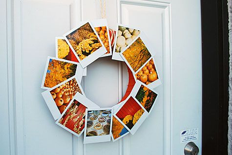 Merriment Design:: Urban wreath for fall using Polaroids by Kathy Beymer and Heather Crosby