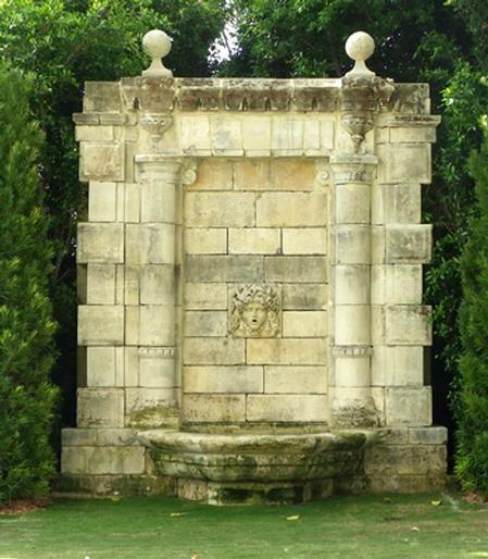 Whoa! Incredible garden wall fountain..