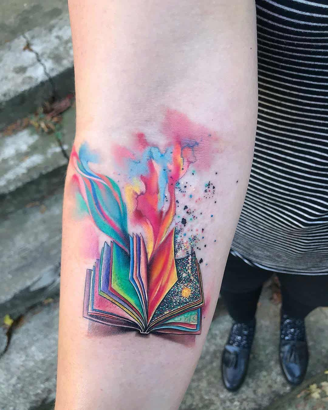 20 Exceptional Book Tattoo Ideas In 2020 Tattoos For Lovers Watercolor Tattoo Sleeve Book Lover Tattoo