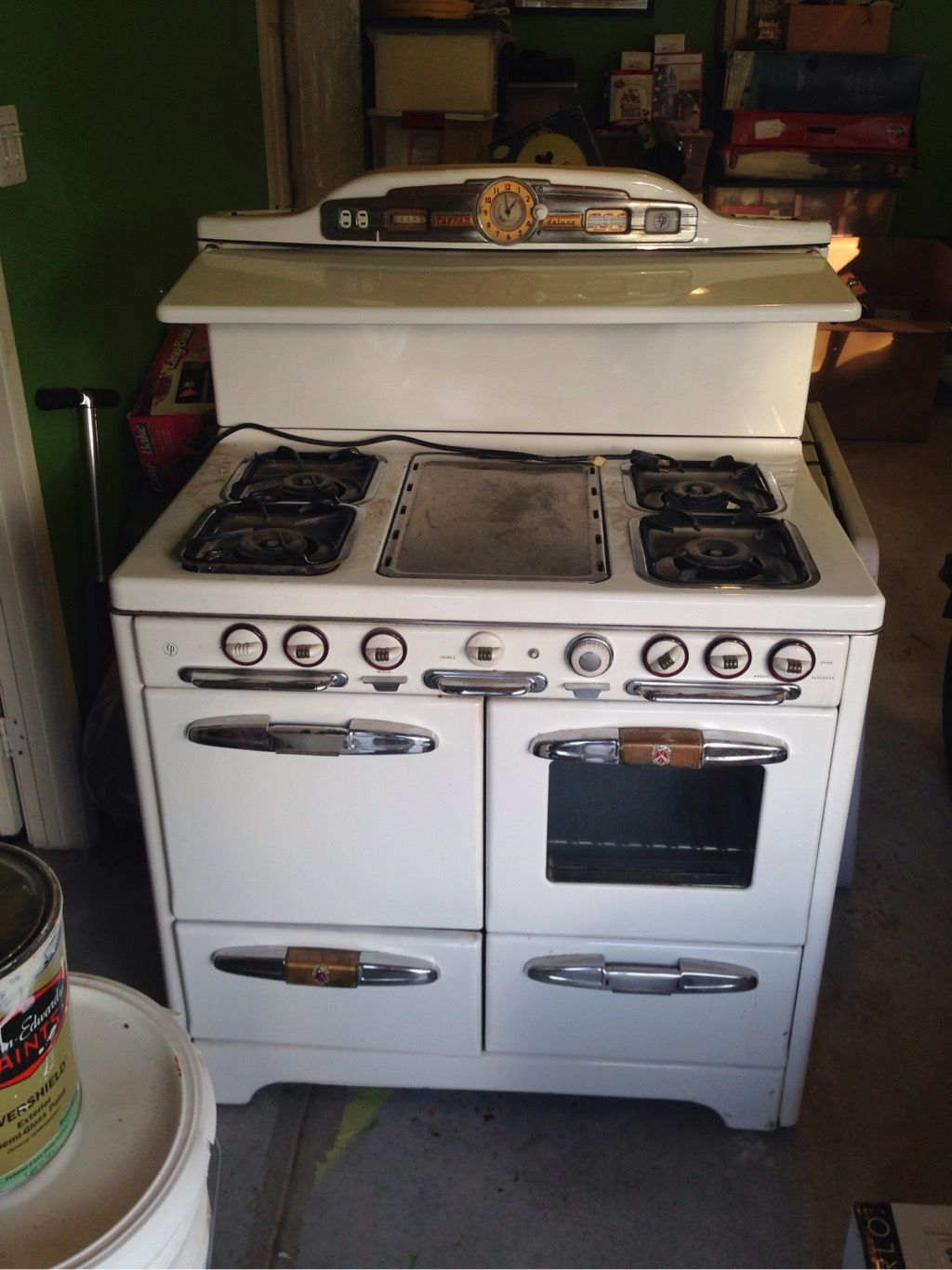 Vintage Tappan Deluxe Gas Stove 40s 50s