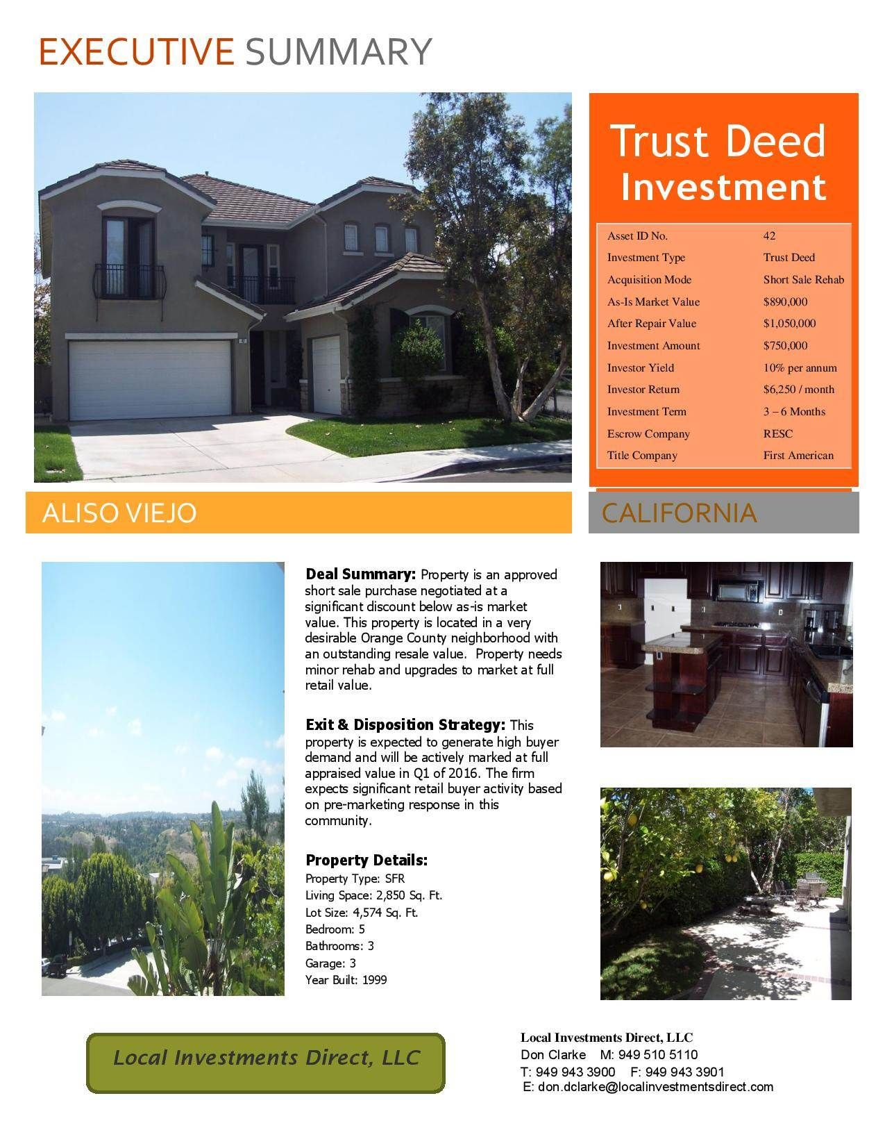 Check out this wholesale deal in Aliso Viejo, California for only $750000 on FlipNerd.com!