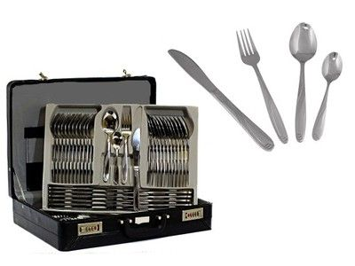 Sztucce Walizka Zestaw Widelce Lyzki Noze Srebro 4839956138 Oficjalne Archiwum Allegro Flatware Tray Knife Block Kitchen