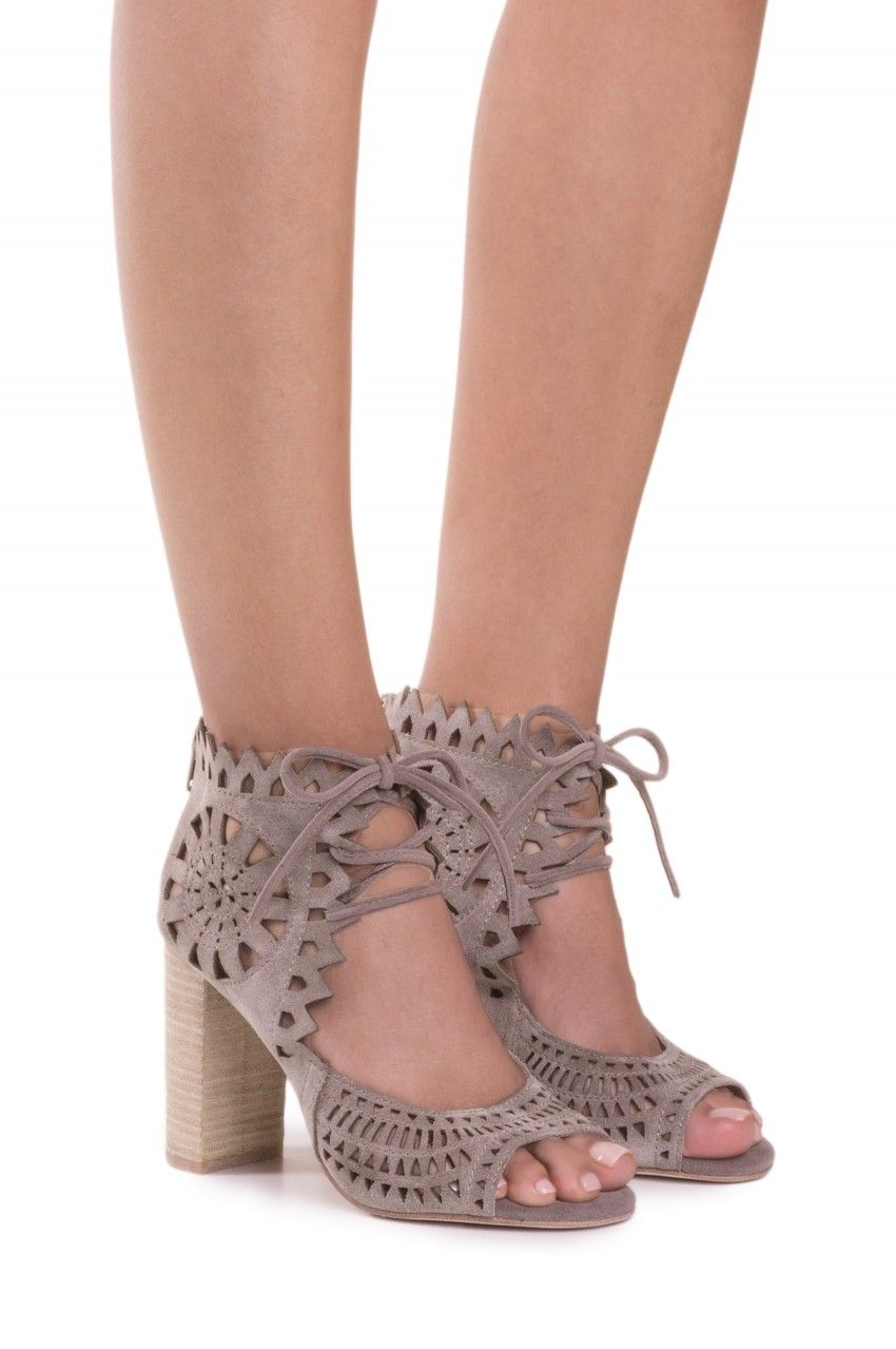 b1f979b1b1e Jeffrey Campbell Shoes CORDIA Booties in Taupe Suede