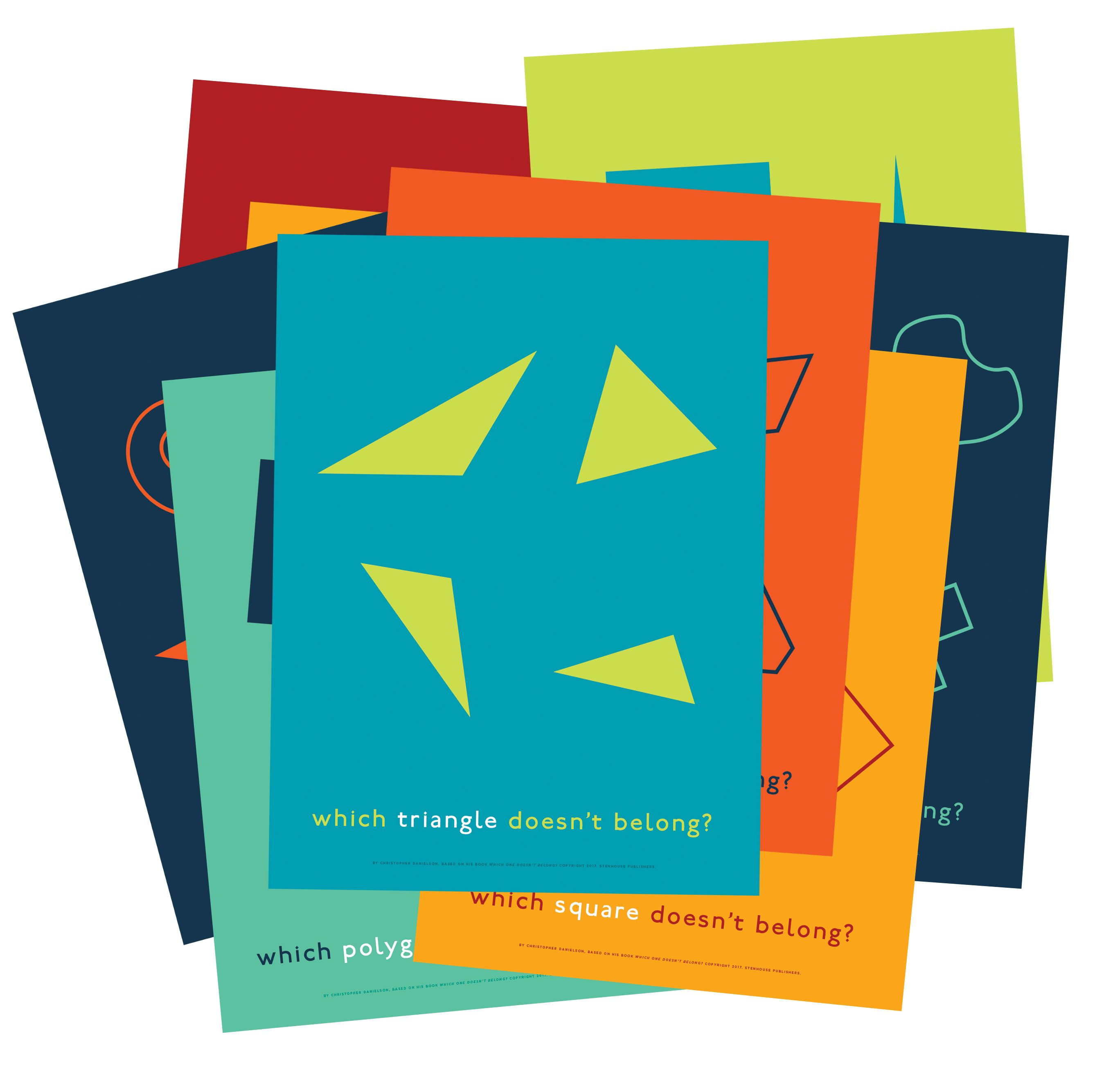 Which One Doesn T Belong Shapes Posters Image 1