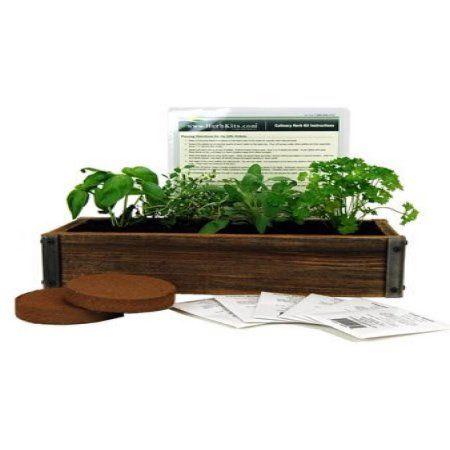 Reclaimed Barnwood Planter Box Mini Herb Garden Kit Grow 400 x 300