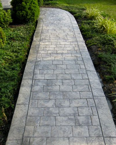 Cheap Sidewalk Ideas: Cobblestone Stamped Concrete - Google Search