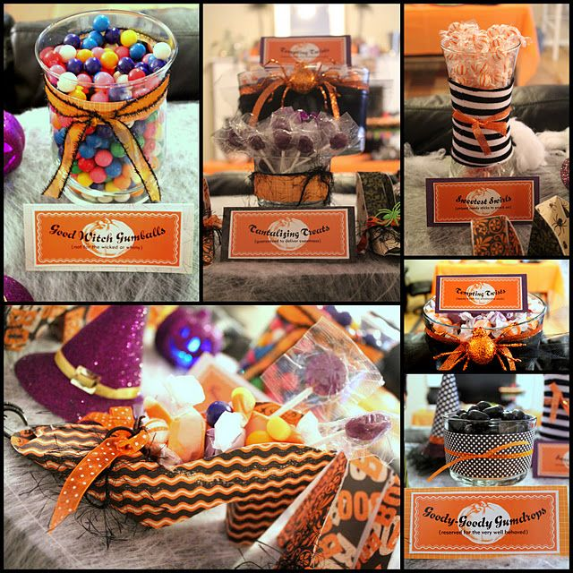 Halloween Candy Buffet Trick or Treat! 10th Wedding Anniversary - halloween candy treat ideas