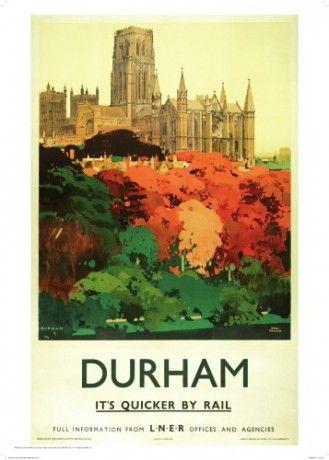 TX279 Vintage Durham England LNER Railway Travel Poster Re-Print A2//A3//A4