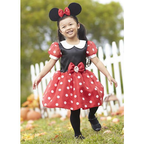 Disney Girls 2 Piece Red/Black Minnie Mouse Halloween Costume with Mouse Ears - Babies  R  Us  sc 1 st  Pinterest & Disney Girls 2 Piece Red/Black Minnie Mouse Halloween Costume with ...