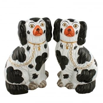 Antique Staffordshire Dogs | Staffordshire Pottery Dogs
