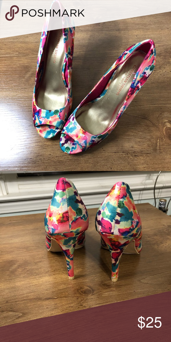 3dd361ef4a7 New Christian Siriano floral heels size 8.5 Beautiful floral heels. Never  worn. Size 8.5
