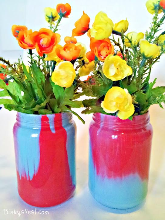 How To Make Ombr Vases Out Of Pickle Jars Diy Pinterest